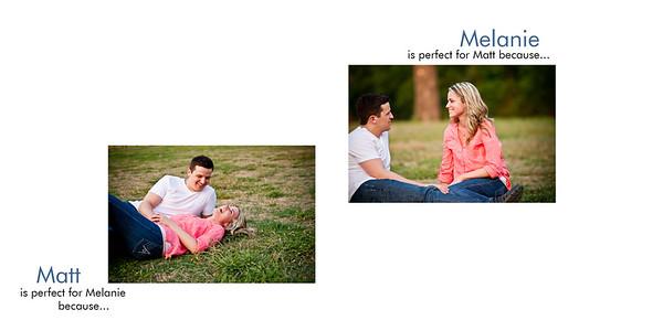 Melanie & Matt - Engagement Book