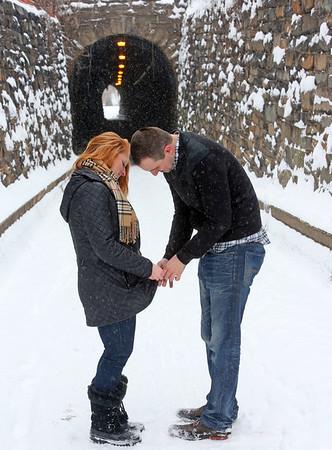 Melissa Vassalotti and Michael Twist Snow Engagement Shoot