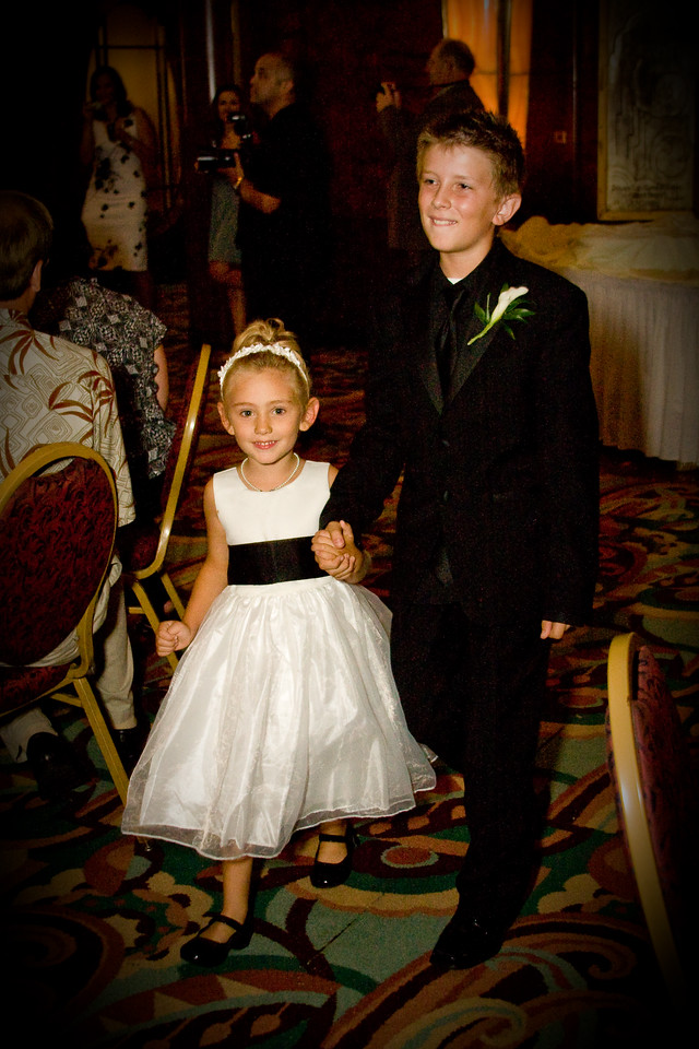 Flower girl and ring boy