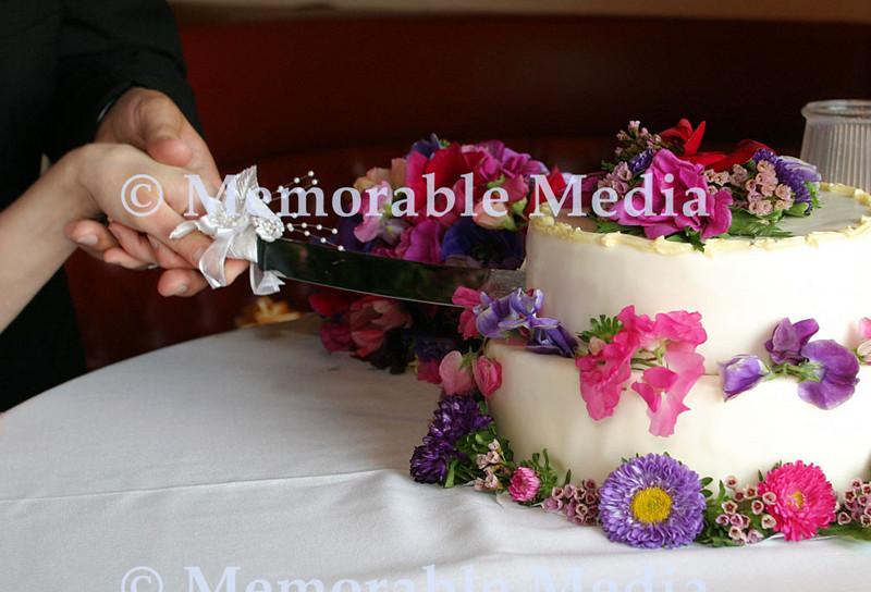 holly cut cake