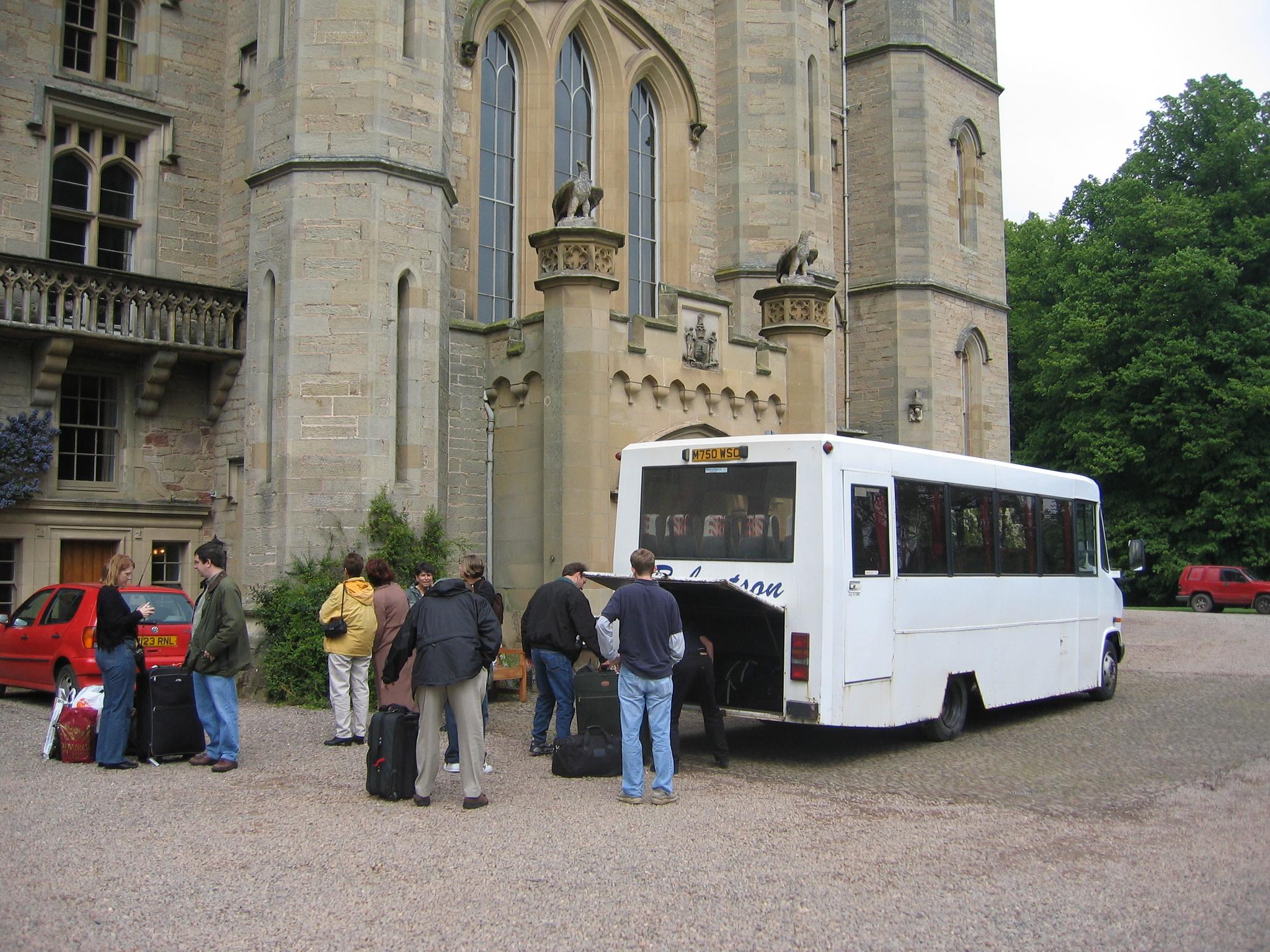 Arriving at Duns Castle