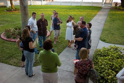 The wedding rehearsal of Megan and Greg Michaud in Palmetto, Florida on November 14, 2012. (Jay Grabiec)