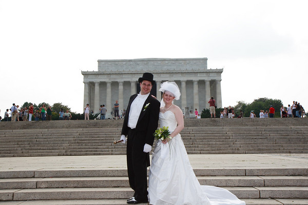 Mike & Jess Wedding - Lincoln Memorial