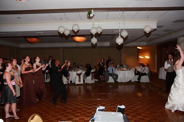 Mike & Jess Wedding Reception - Bouquet / Garter