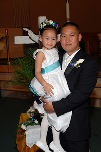 Mike and his God daughter.