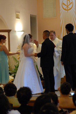The prayer before the ring ceremony.