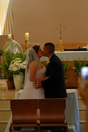 1st Kiss as man and wife.