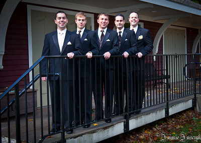 Mike, Jonathan, Randy, Dom and RJ. What a handsome grooms party.