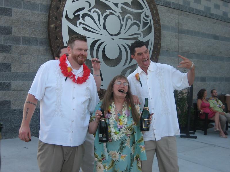 Craig, Miles' mom and Josh Wells
