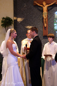 Exchanging vows - Chagrin Falls, OH ... July 3, 2010 ... Photo by Rob Page III