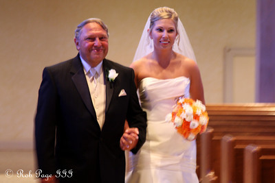 Walking Missy down the aisle - Chagrin Falls, OH ... July 3, 2010 ... Photo by Rob Page III