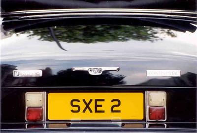 bentley rear tags L35 7