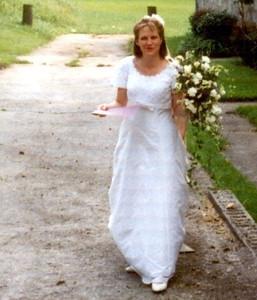 Janet  Goldsmith wedding day