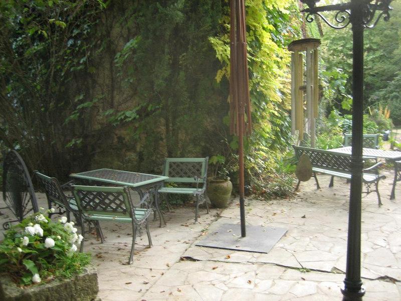 Breakfast terrace at La Source Blue