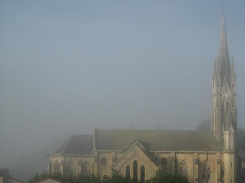Fog at Fumel