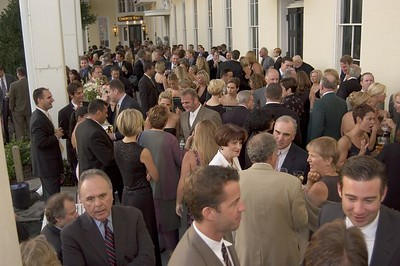 Lots of people at the reception