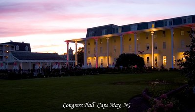 Congress hall is where the reception was held. This place is amazing and looks over the beach in Cape May.