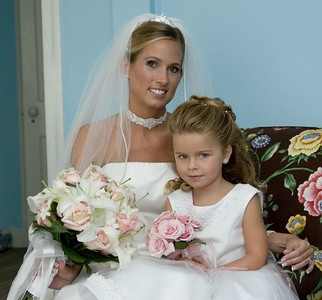 My wife and my neice Juliana who was our flower girl.