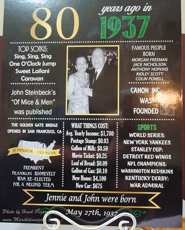 Nana Santana & Brother John's 80th Bday