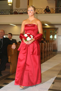 One of the bridesmaids at the wedding of Natalie Page and Mike Elwarner - Carnegie, PA ... September 9, 2006 ... Photo by Rob Page Jr.