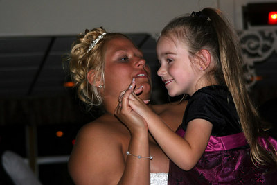 Natalie dancing with one of the guests - Pittsburgh, PA ... September 9, 2006 ... Photo by Rob Page Jr.