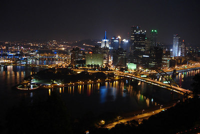 The view from the Dusquene Incline - Pittsburgh, PA ... September 9, 2006 ... Photo by Rob Page III