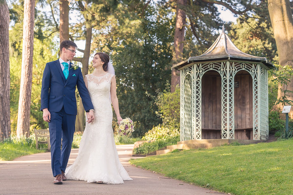 Natalie & Tom at Birmingham Botanical Gardens