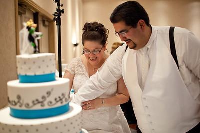 Cake cutting and dollar dance