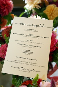 A Gourmet Wedding Feast awaits prepared with locally and family grown produce & flowers everywhere