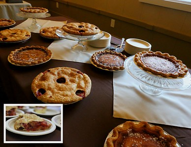 Pies and pies and more pies....what a Wedding Reception !!