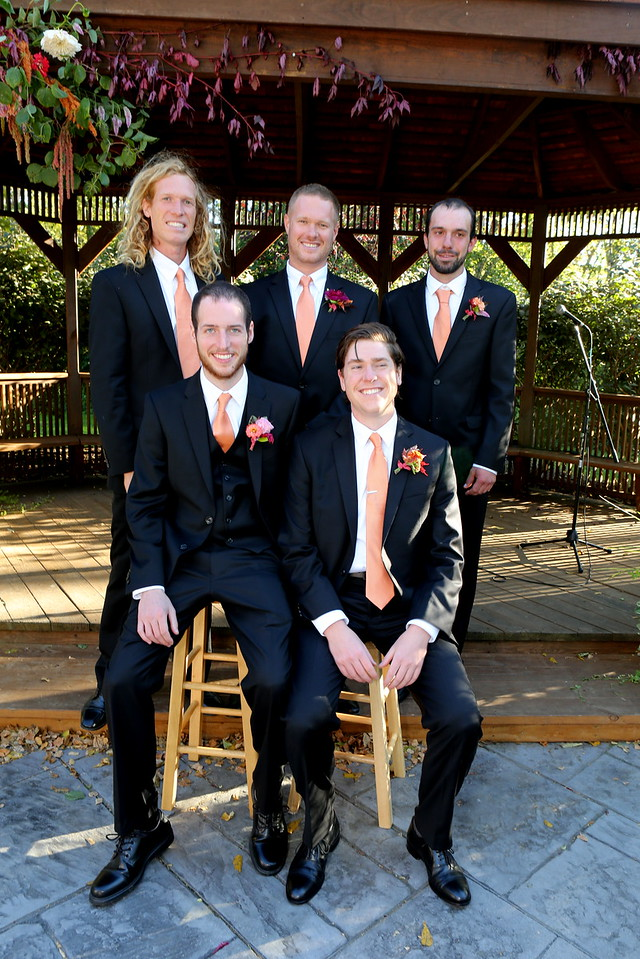 The Grooms-men with Brothers Joel and Shane sitting