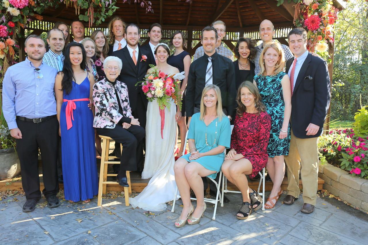 Joel & Nellie & cousins & significant others & Grandma Lahman