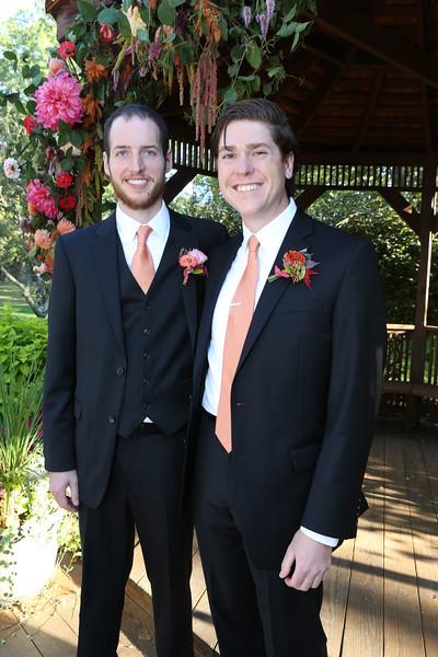 Joel with  brother Shane, Groomsmen