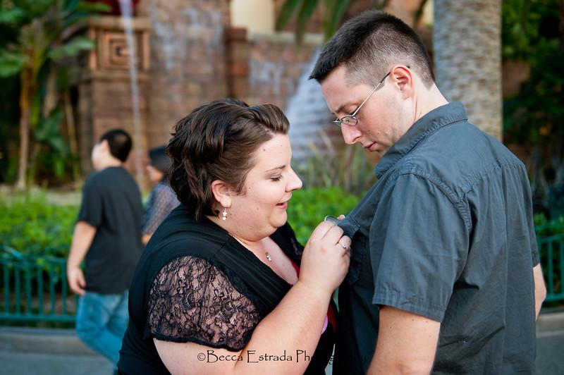 Engagement at Disneyland - Nichole and James - Becca Estrada Photography