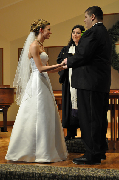 Exchanging vows!