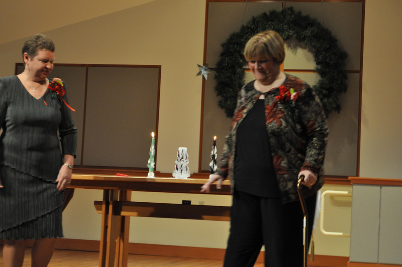 Cherie and Chris after lighting candles