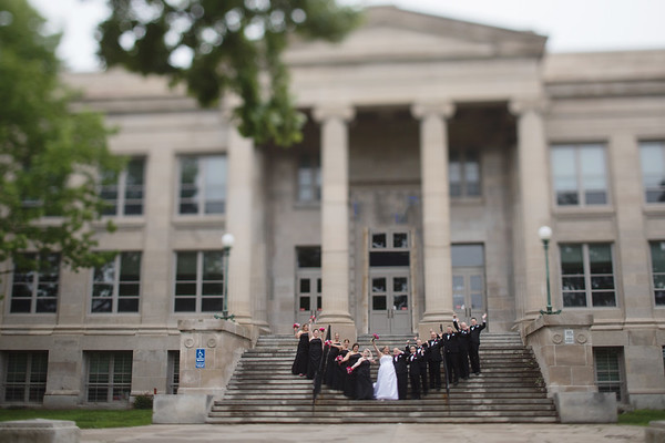 Bridal Party East Steps