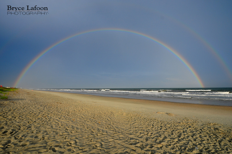"Bryce Lafoon Photography captures a beautiful Rainbow in Ocean Isle, NC.  <a href=""http://www.brycelafoonphotography.com"">http://www.brycelafoonphotography.com</a>"