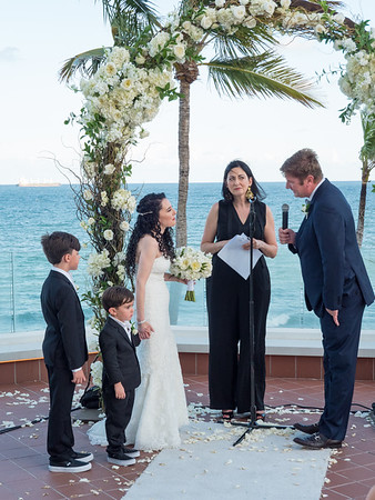 Exchanging vows.