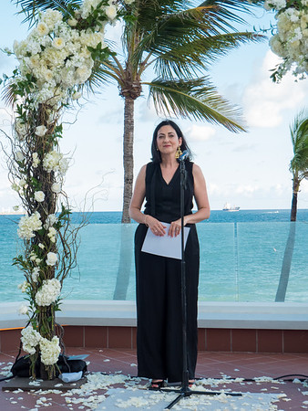 Giovanna performed the ceremony with grace and beauty.