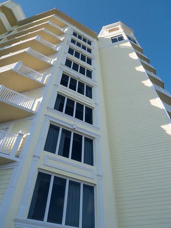 The evening's venue: the Pelican Beach resort.