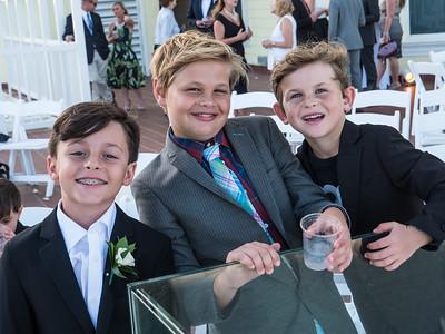 Boys will be boys. Truman, Liam and Emmett.