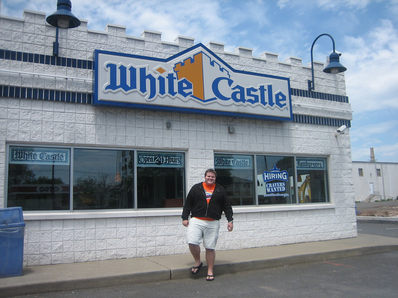 Grant in front of White Castle