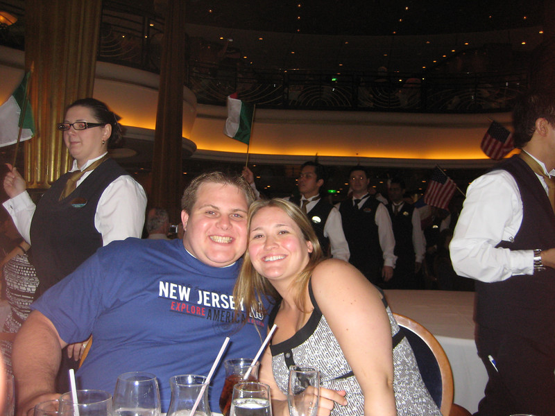 Our last dinner on the cruise