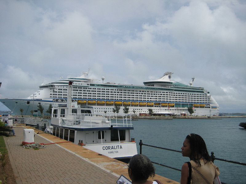 Our ship from a distance in St. Thomas