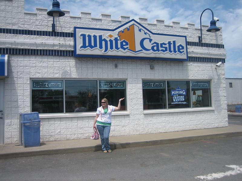 Jill in front of White Castle