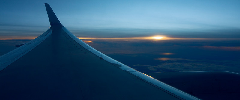 sunset and engine