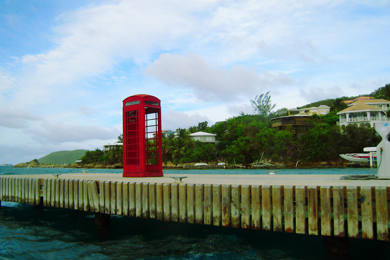a phonebooth at the end of the dock