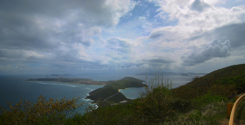 looking down on Spanish Town on Virgin Gorda