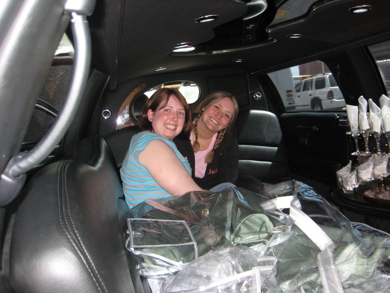 In the limo on the way to the hotel in Vegas.